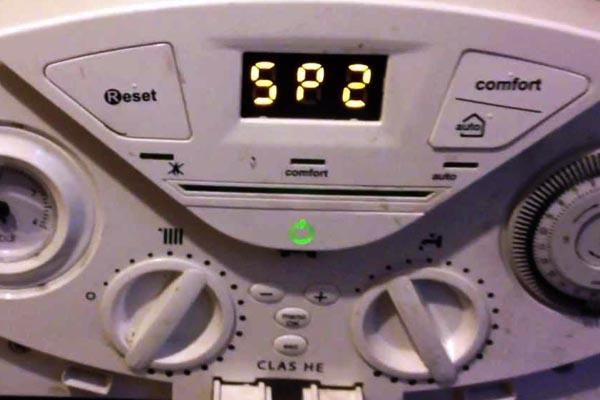 imagen de codigo de error caldera de gas