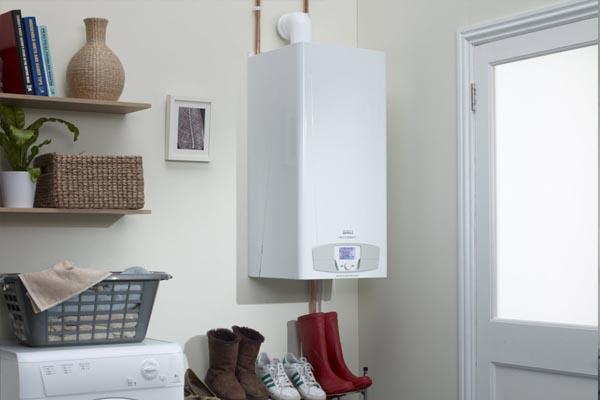 caldera de gas en casa moderna