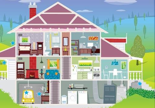 Foto de un hogar sostenible