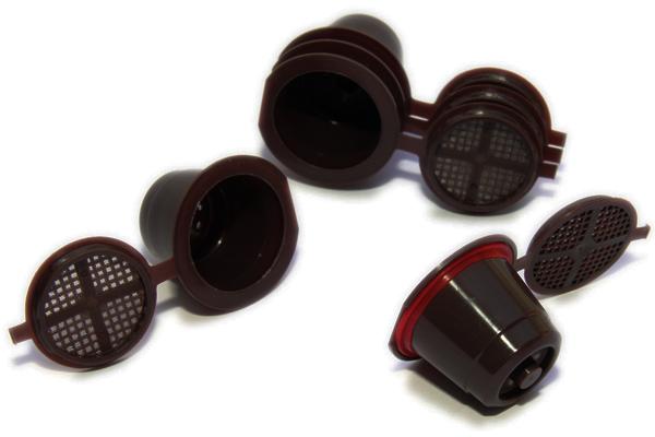 foto de 3 capsulas reusables nespresso