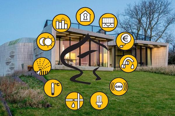 Imagen sobre una casa domótica y la eficiencia energética