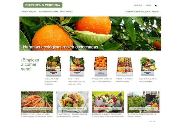 web de disfruta & verdura un huerto ecologico