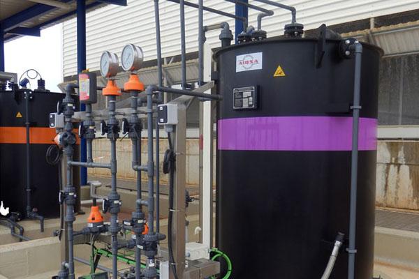 barril configurada con un sistema de dosificación de agua